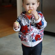 sewalittleseam.com, Toddler Striped Floral Zip Up Hoodie