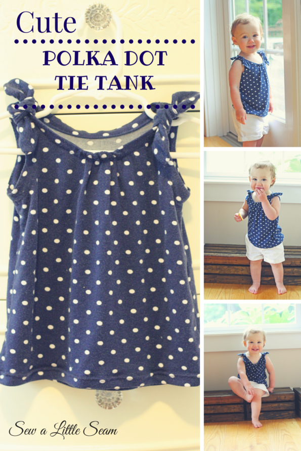 Toddler Polka Dot Tie Tank Tutorial