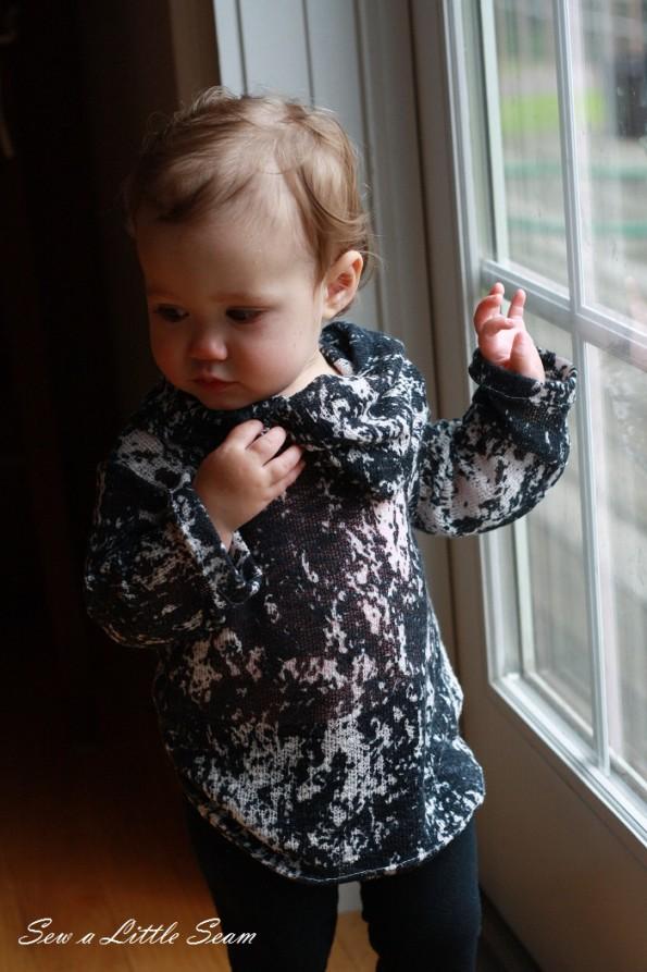 sewalittleseam.com, Toddler Cowl Neck Sweater