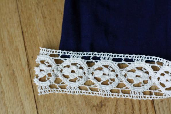 Update a Shirt with Crochet Trim