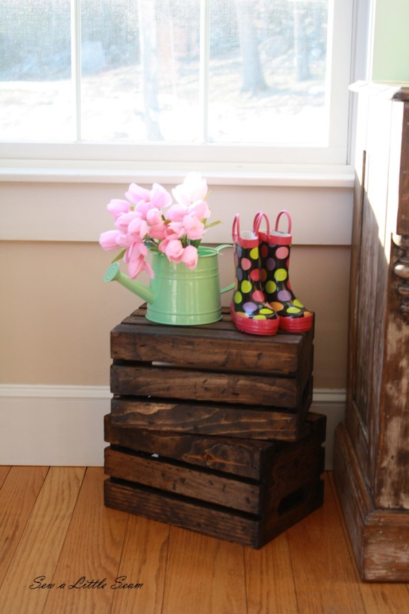 sewalittleseam.com, distressed vintage crates