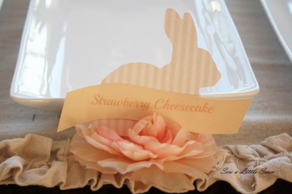 sewalittleseam.com, Bunny Placecards