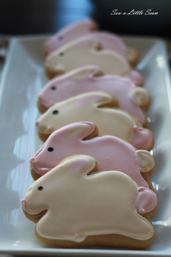 sewalittleseam.com, bunny birthday, bunny cookies