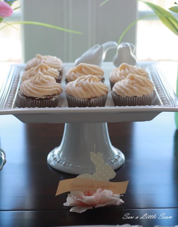 sewalittleseam.com, bunny birthday, carrot cake cupcakes