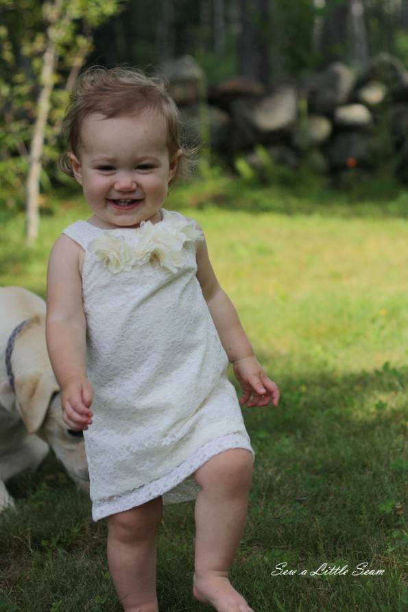 sewalittleseam.com Lace Toddler Dress