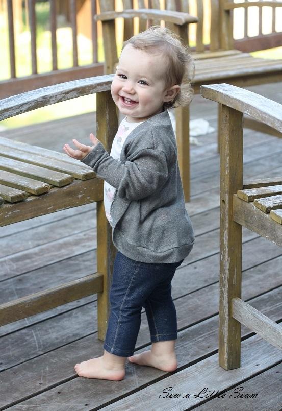 Toddler Slouchy Cardigan, sewalittleseam.com