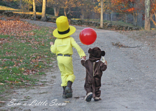 Curious George and Man in the Yellow Hat Costumes