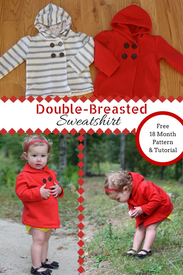 Double-breasted sweatshirt pattern and tutorial