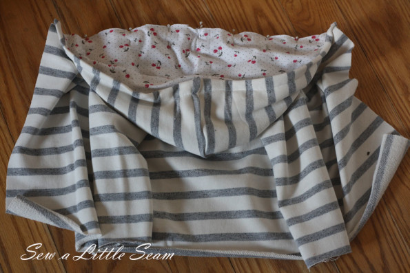 Double breasted sweatshirt tutorial and pattern