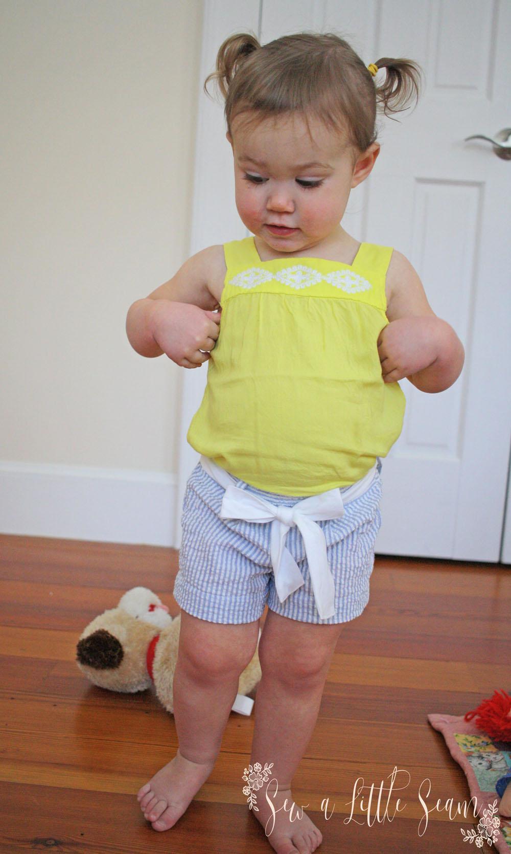JillyAtlanta Belted Shorts Pattern