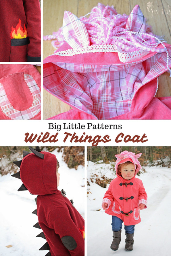 Wild Things Coat Pattern from Big Little Patterns