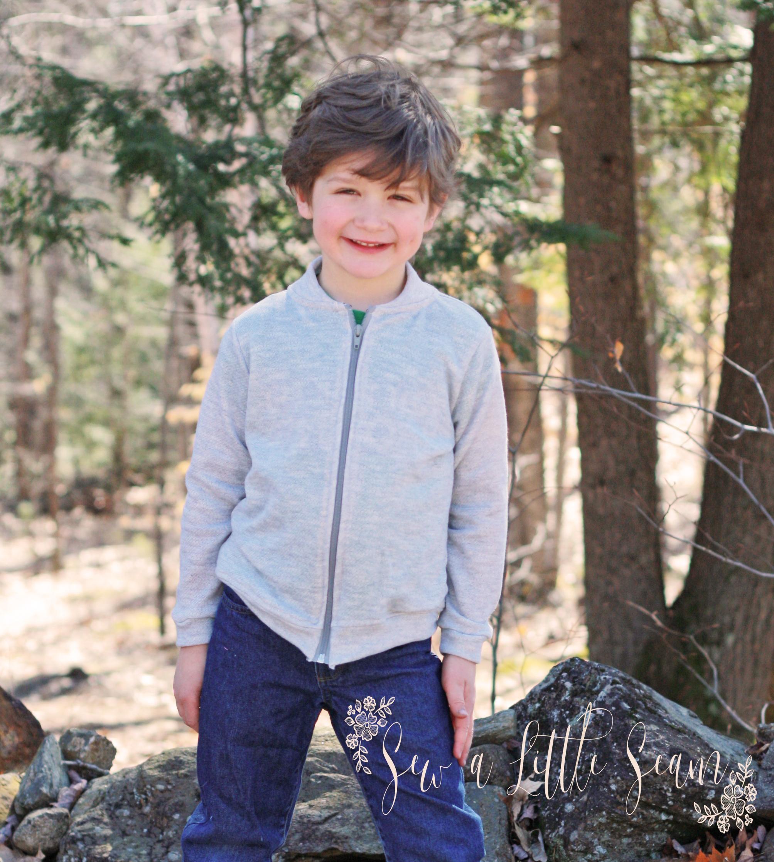 Children S Ollie Bomber Jacket Pdf Pattern Sew A Little Seam