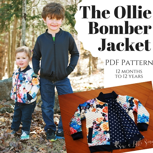 Children\'s Ollie Bomber Jacket PDF Pattern - Sew a Little Seam