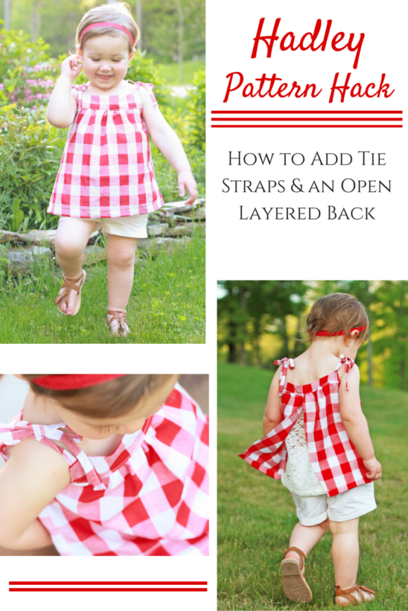 Hadley Pattern: adding tie straps and layered open back