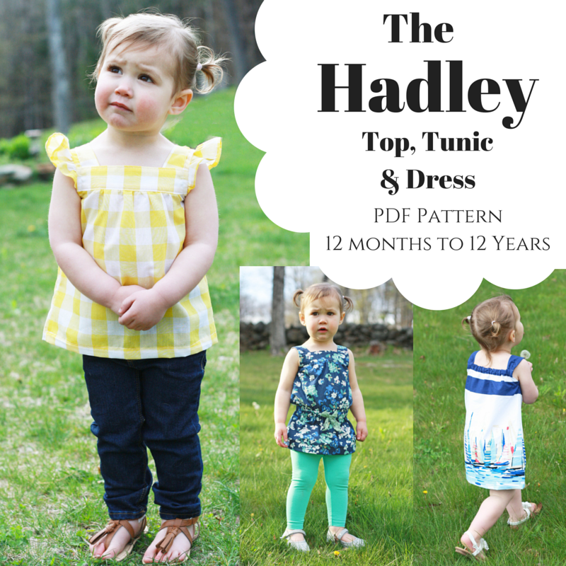 8d85dde9e261 Hadley Top, Tunic & Dress PDF Pattern 12 months -12 years - Sew a ...