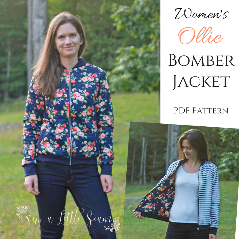Women\'s Ollie Bomber Jacket PDF Pattern - Sew a Little Seam