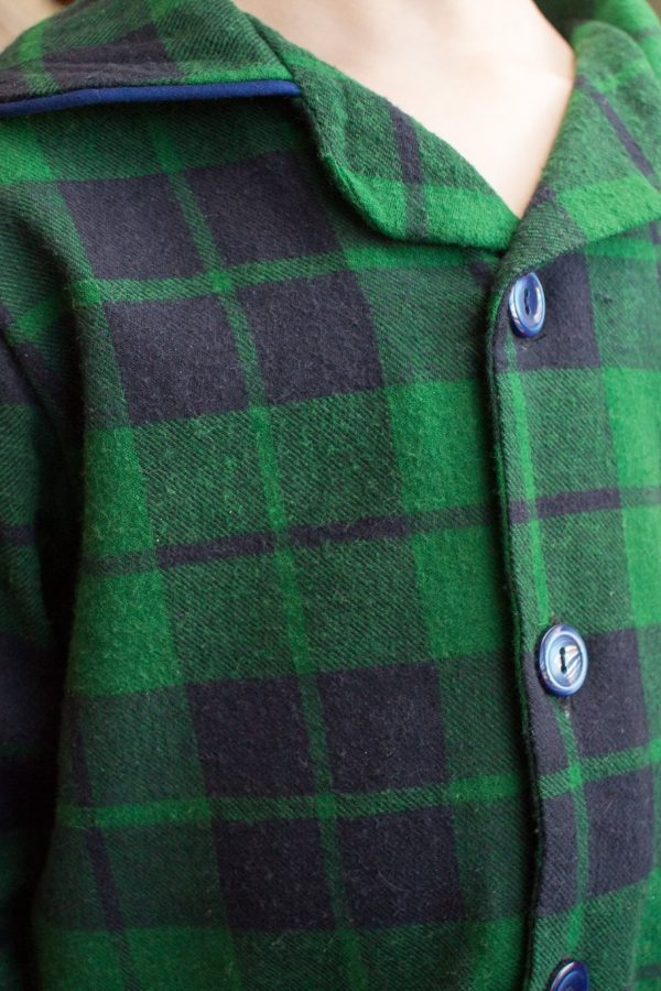 Plaid with buttons