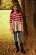BBH Mid Waist button skirt