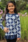 KG Size 6 drop waist tunic with button skirt