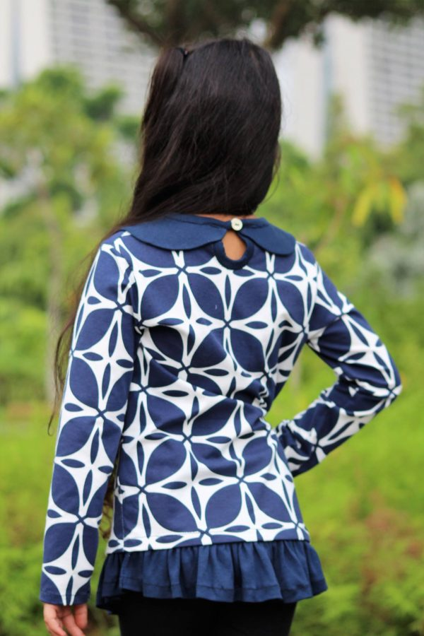 KG Size 6 drop waist tunic with keyhole