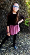 KM mid waist tunic button skirt