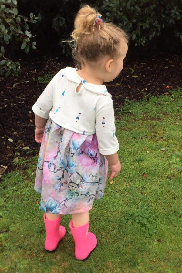 SN Size 4 high waist dress three quarter sleeves