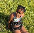 BB Size 7 bikini peplum and waist ruffle