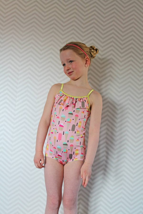 FVHS Size 6 ruffle chest one piece
