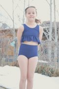 JH Size 8 bikini peplum size 7 high waist bottoms