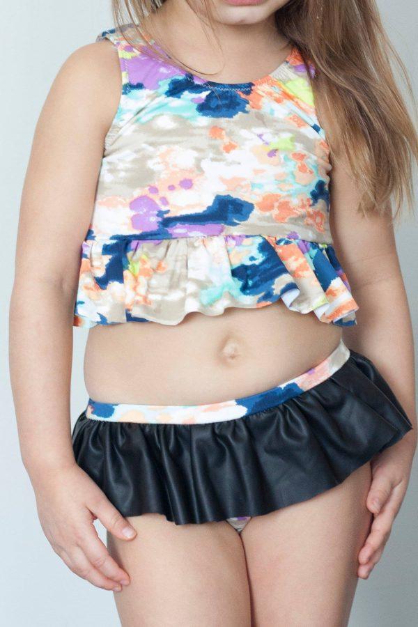 KP Size 4 bikini peplum ruffle waist
