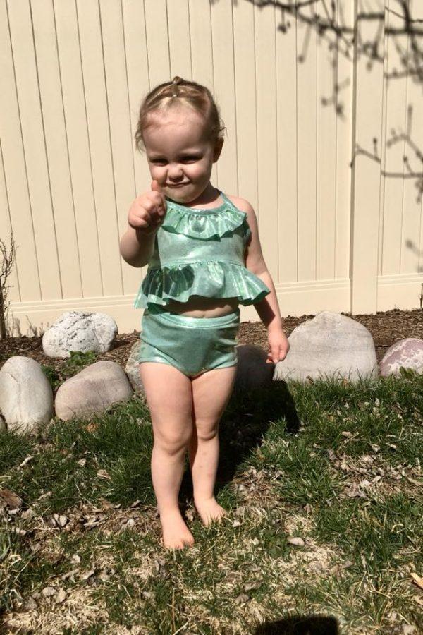 KTL size 3 bikini with peplum