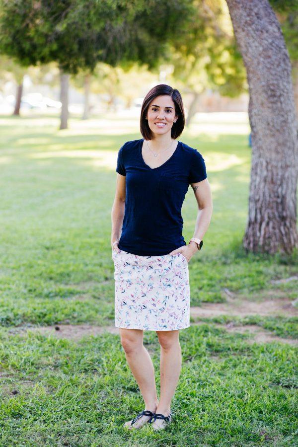 TSB skirt mid length