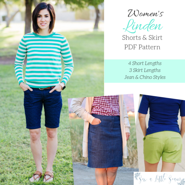Sew a Little Seam Linden Shorts & Skirt PDF Sewing Pattern