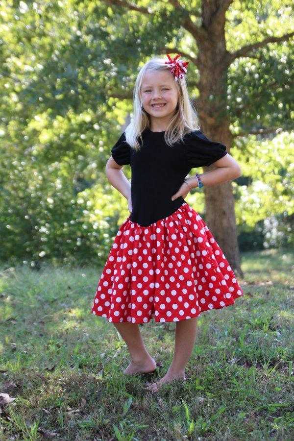 JCW rounded neckline puff sleeve short skirt