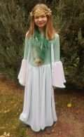 SL full length dress attached cape