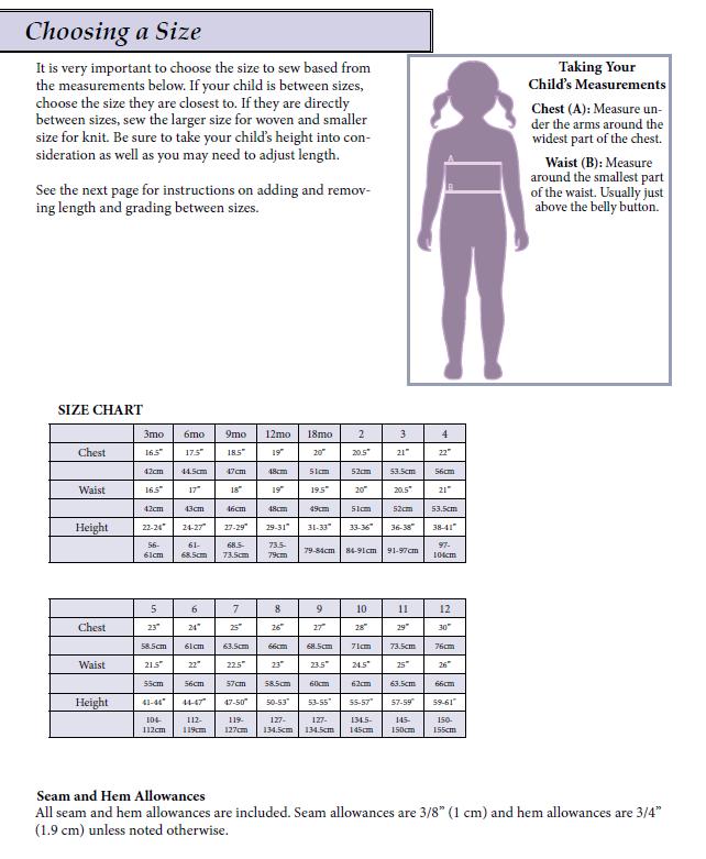 3mo-12yr size chart